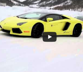 Lamborghini Ice Driving Video